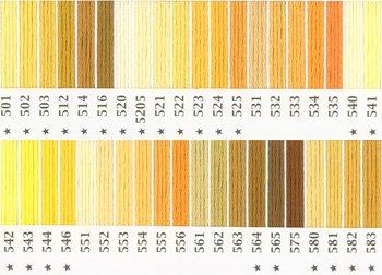 オリムパス刺繍糸 25番 黄色・橙色系 1