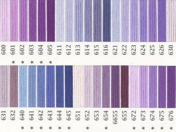 オリムパス刺繍糸 25番 紫色系 1