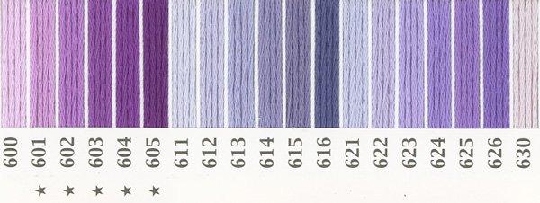 オリムパス刺繍糸 25番 紫色系 1 【参考画像1】
