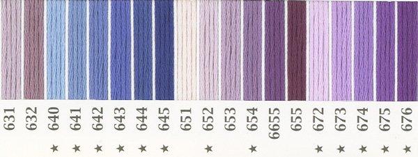 オリムパス刺繍糸 25番 紫色系 1 【参考画像2】