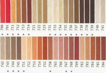 オリムパス刺繍糸 25番 茶・白黒系 1