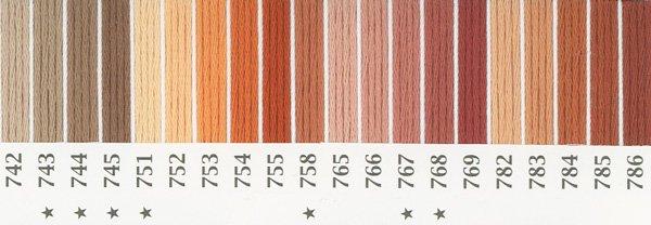 オリムパス刺繍糸 25番 茶・白黒系 1 【参考画像2】