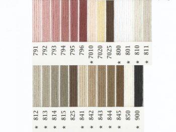 オリムパス刺繍糸 25番 茶・白黒系 2