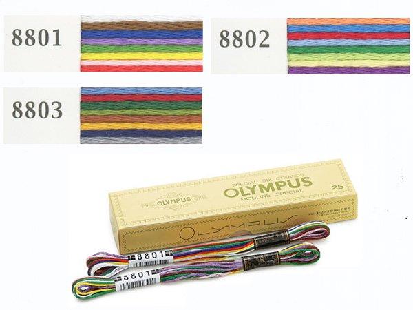 オリムパス刺繍糸 25番 8色 カラフル