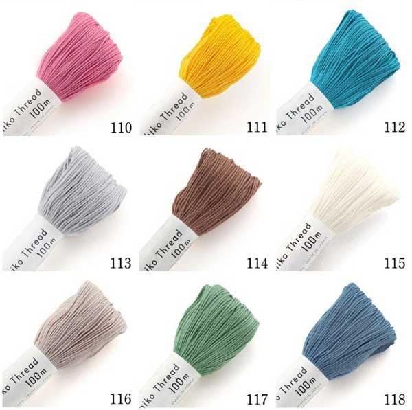 オリムパス 刺し子糸 白 col.101 大かせ 100m 【参考画像2】