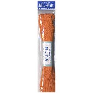 オリムパス 刺し子糸 柿色 col.4 20m