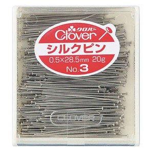 シルクピン20g入 No.3 便利なケース付 クロバー 22-603