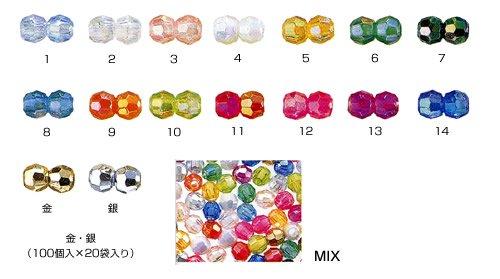 DX 8mm カットビーズ col.2 オーロラ 透明 【参考画像2】