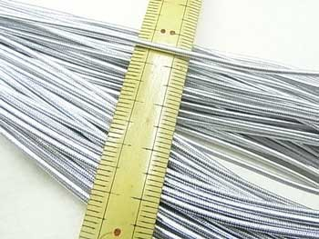 金天馬 ハイカラー丸ゴム 銀 30m乱 直径約1.5mm