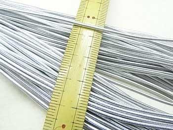 金天馬 天馬印 ハイカラー丸ゴム 銀 直径約1.5mm 30m乱