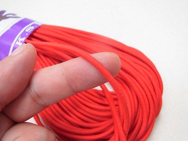 金天馬 ウーリーゴム 赤 M 直径約3mm 30m綛 KW11253 【参考画像2】