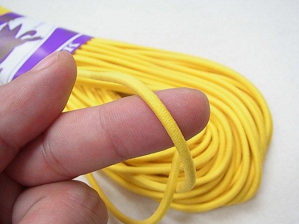 金天馬 ウーリーゴム 黄色 M 直径約3mm 30m綛 KW11255 【参考画像2】