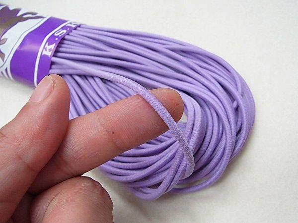 金天馬 ウーリーゴム 紫 M 直径約3mm 30m綛 KW10958 【参考画像2】