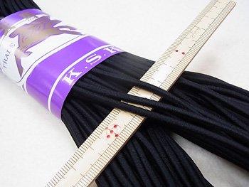 金天馬 ウーリーゴム 黒 M 直径約3mm 30m綛 KW11251