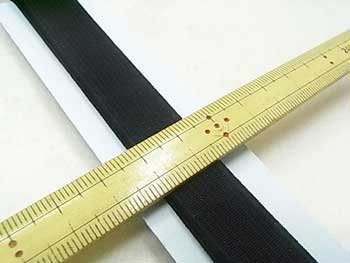 金天馬 オペロン織ゴム 黒 15mm巾x1m