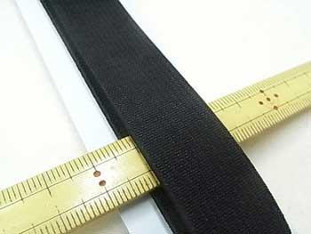 金天馬 オペロン織ゴム 黒 20mm巾x90cm巻 KW04402