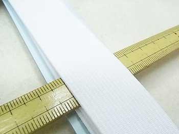 金天馬 オペロン織ゴム 白 25mm巾x90cm巻