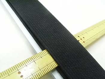 金天馬 オペロン織ゴム 黒 25mm巾x80cm巻