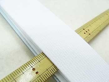 金天馬 オペロン織ゴム 白 30mm巾x80cm巻 KW04601