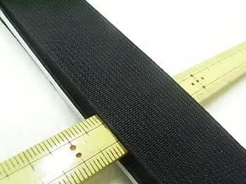 金天馬 オペロン織ゴム 黒 30mm巾x75cm巻 KW04602