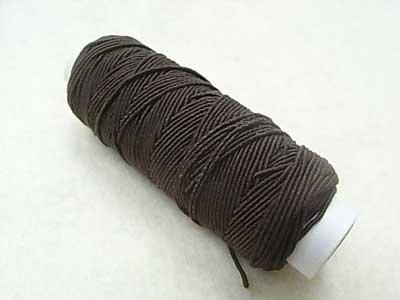 ゴムカタン糸 茶色 ゴムシャーリングやニットの伸び止めに 【参考画像1】