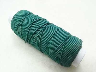 ゴムカタン糸 緑色 ゴムシャーリングやニットの伸び止めに 【参考画像1】