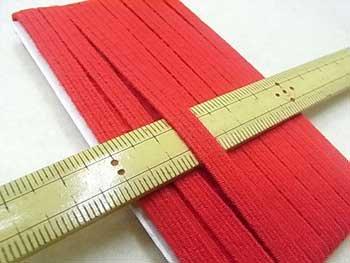金天馬 キングスパン カラーゴムテープ 赤