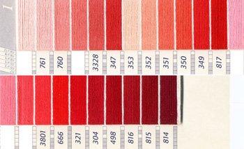 DMC刺繍糸 5番 ピンク・赤色系 1