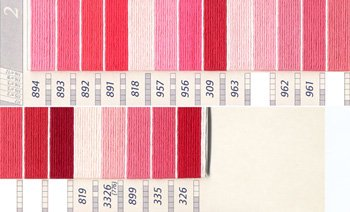 DMC刺繍糸 5番 ピンク・赤色系 2
