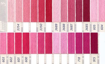 DMC刺繍糸 5番 ピンク・赤色系 3