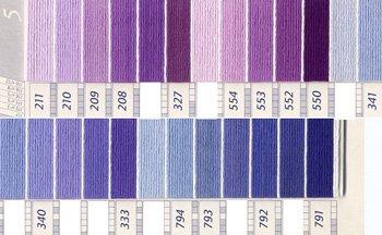 DMC刺繍糸 5番 紫・青色系 1