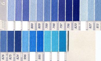 DMC刺繍糸 5番 紫・青色系 2
