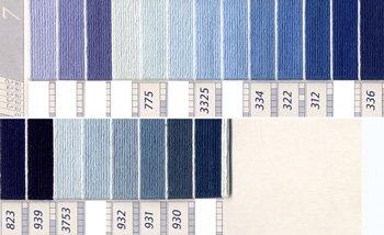 DMC刺繍糸 5番 紫・青色系 3