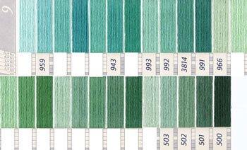 DMC刺繍糸 5番 緑・黄緑色系 1