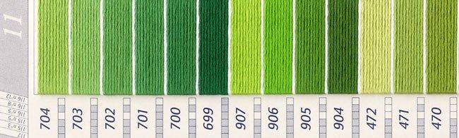 DMC刺繍糸 5番 緑・黄緑色系 3 【参考画像1】