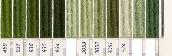 DMC刺繍糸 5番 緑・黄緑色系 3 【参考画像2】