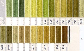 DMC刺繍糸 5番 緑・黄緑色系 4