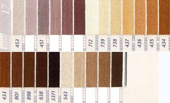 DMC刺繍糸 5番 茶・白黒系 1