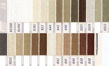 DMC刺繍糸 5番 茶・白黒系 2