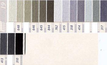 DMC刺繍糸 5番 茶・白黒系 3