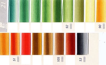 DMC刺繍糸 5番 ミックス系 2