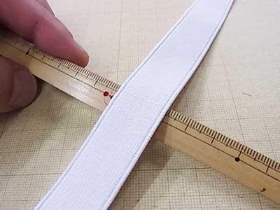 ■廃番■ 平ゴム コハク織ゴム 白 20mm 【参考画像1】