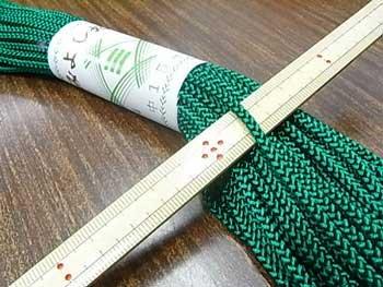 江戸打ち紐 中 緑