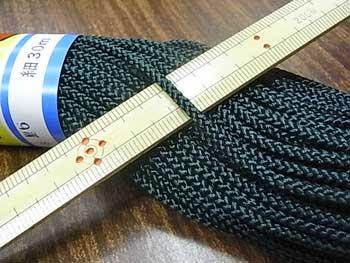 江戸打ち紐(細) 深緑色 太さ約3mm 大巻き 約140m