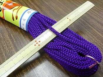江戸打ち紐(中) 紫 太さ約4mm 大巻き 約140m