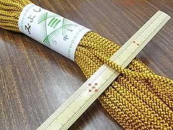 江戸打ち紐(中) 黄土色 太さ約4mm 大巻き 約140m