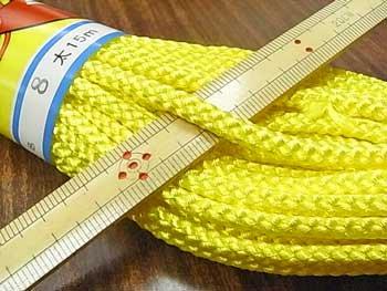 江戸打ち紐(太) 黄色 太さ約5mm 大巻き 約140m