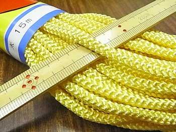 江戸打ち紐(太) 薄黄色 太さ約5mm 大巻き 約140m