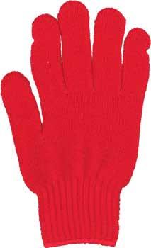 カラー手袋 赤