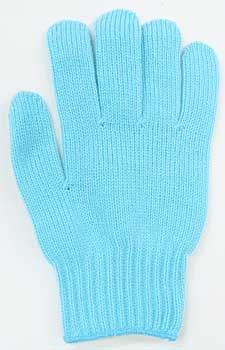 カラー手袋 水色